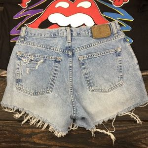VINTAGE GAP CUTOFF JEANS SHORTS, sz 8 light wash